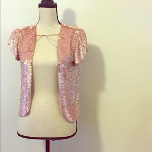 Other - Vintage Blush Sequence Cardigan